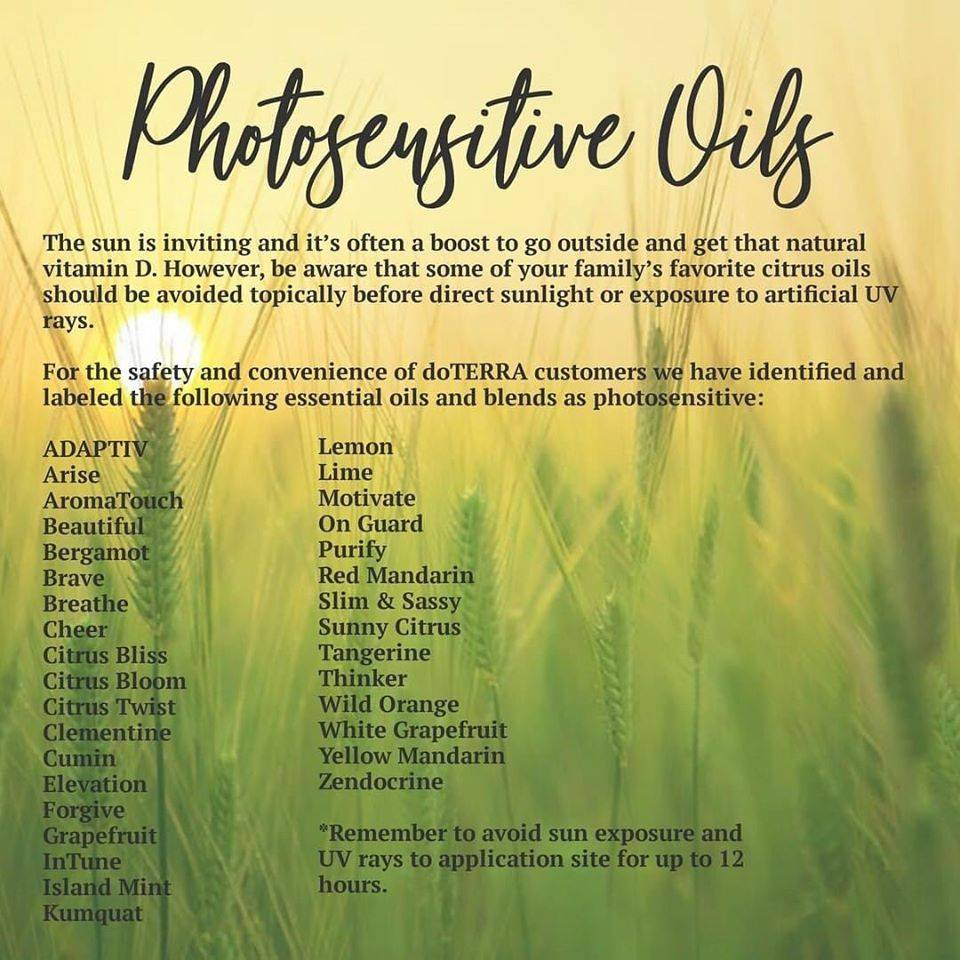 Photosensitive Oils